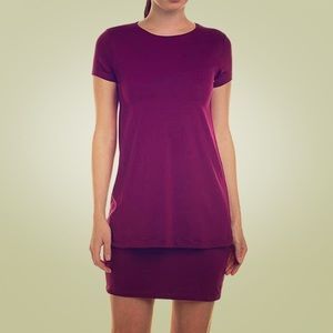 Susana Monaco Purple Double Layer Shift Dress
